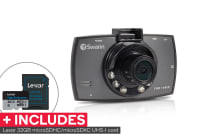 "Swann 1080p HD Dash Camera with 2.7"" LCD with Lexar 32GB High-Endurance microSDHC/microSDXC UHS-I card"
