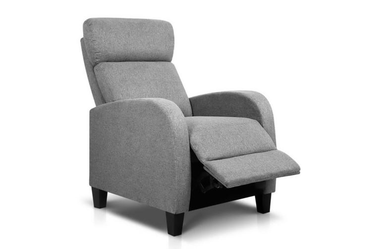 Artiss Recliner Chair Luxury Sofa Lounge Armchair Fabric Couch