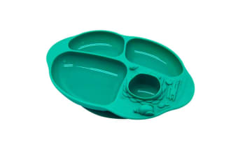 Marcus & Marcus Kids Toddler Yummy Dips Silicon Suction Plate 18m+ Green Ollie