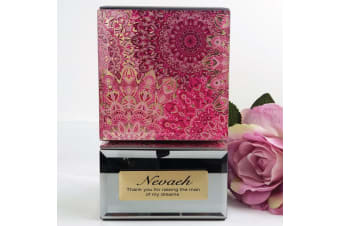 Mother Of Groom Mirrored Trinket Box- Pink Passion