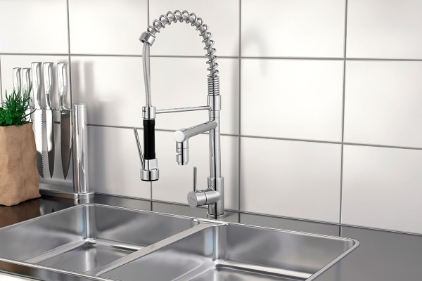 Kromo Dual Head Sink Mixer (Chrome)
