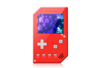 Select Mall Retro Handheld Games Console for Kids Adults 3 inch Screen Video Games with AV Cable Play on TV-Red
