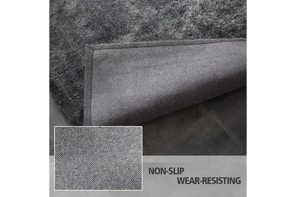 New Designer Ultra Soft Shaggy Floor Confetti Rug 200x140cm - Dark Grey