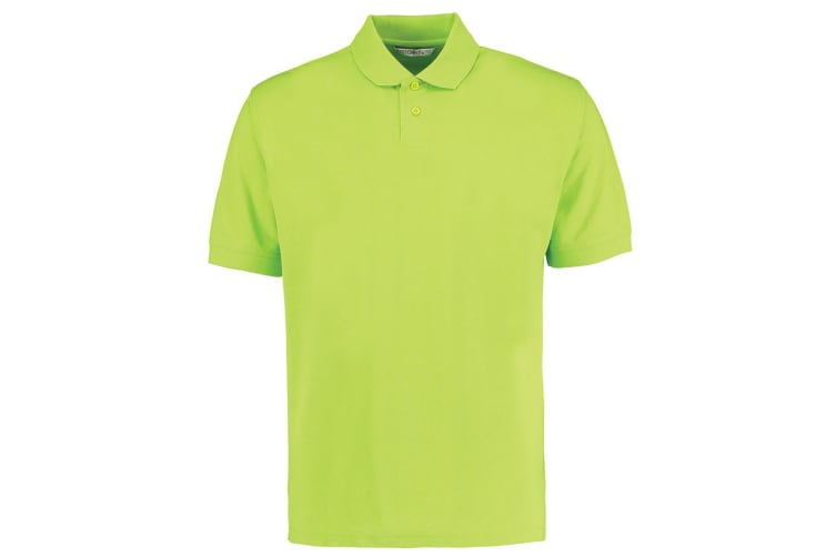 Kustom Kit Mens Regular Fit Workforce Pique Polo Shirt (Lime Green) (XXL)