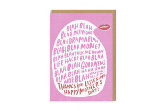 Ohh Deer Thanks For Listening Mothers Day Card (Pink/White) (One Size)