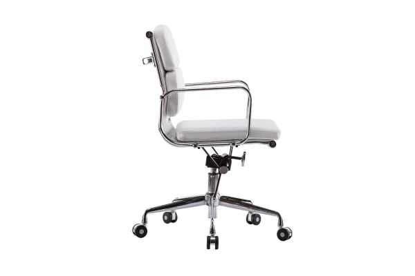 2 Pack Ergolux Executive Eames Replica Low Back Padded Office Chair (White)