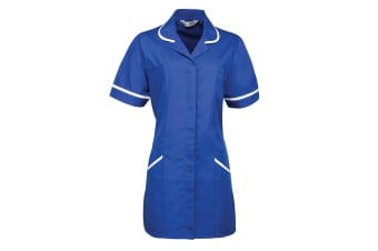 Premier Ladies/Womens Vitality Medical/Healthcare Work Tunic (Pack of 2) (Royal/ White) (16)