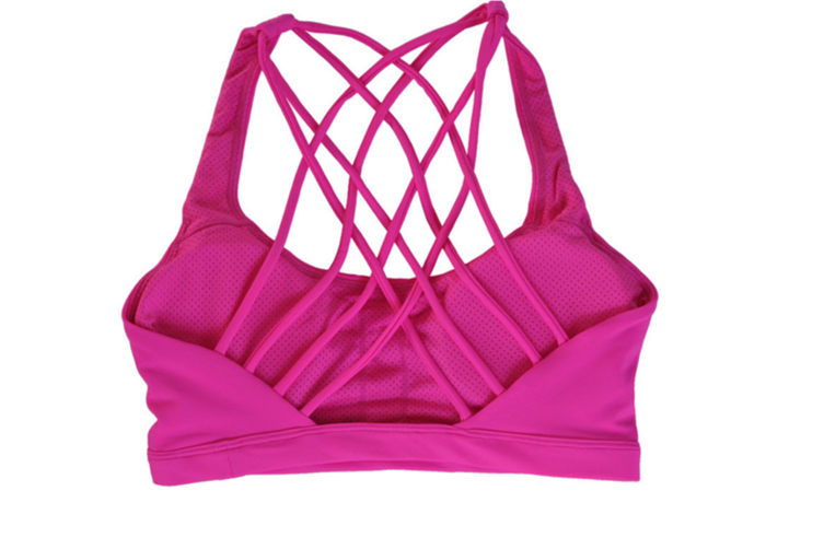 Women Support Sports Bra With Removable Pad Hot Pink Xl