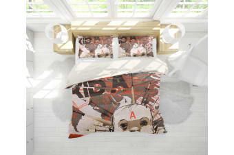 3D Band Radiohead Quilt Cover Set Bedding Set Pillowcases 74-Double