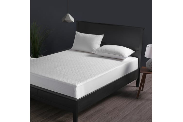 pretty nice a4779 adb4b Dreamaker Cotton Quilted Waterproof Mattress Protector King Single Bed