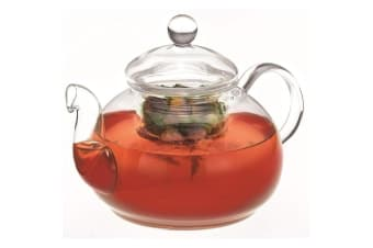 Avanti 800ml Eden Glass Teapot w  Removable Glass Infuser Lid Tea Pot Clear