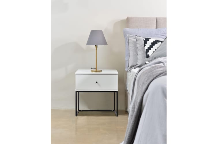 Morena Bedside Table - White