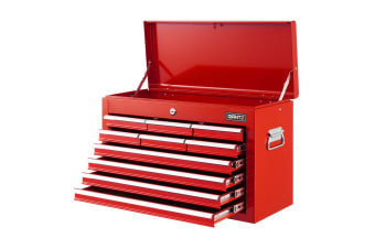 Giantz 10-Drawer Tool Box Chest Cabinet Garage Storage Toolbox - Red
