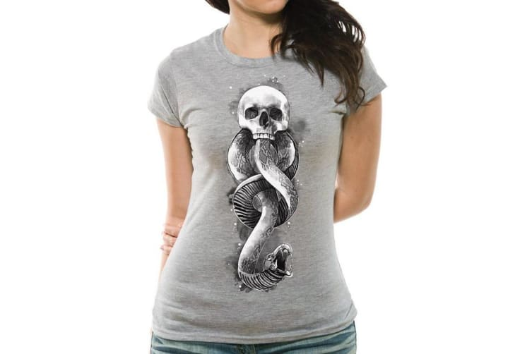 Harry Potter Womens/Ladies Dark Art Snake T-Shirt (Grey) (L)