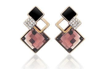 Palazzo Earrings Embellished with Swarovski crystals