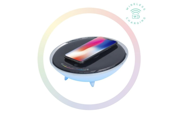 mBeat Wireless Charging Station with RGB Colour Lighting Charging Stand -