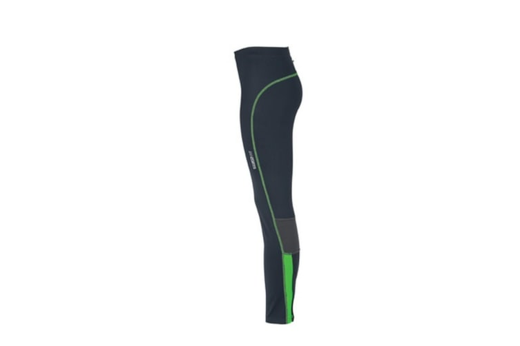 James and Nicholson Womens/Ladies Running Tights (Iron Grey/Green) (XS)