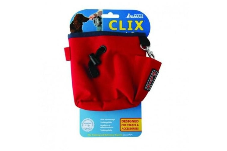 Clix Dog Treat Bag (Red) (One Size)