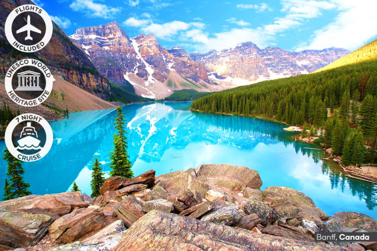 CANADA & ALASKA: 24 Day Canada Self-Drive and Alaska Cruise Package Including Flights for Two (Inside Cabin)