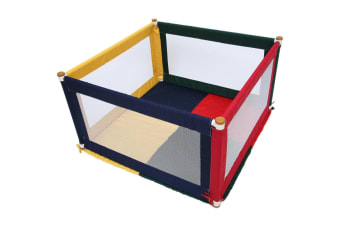 TikkTokk Pokano Fabric Square Playpen & Mat - Multi Coloured