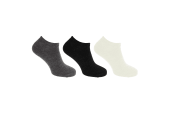 Womens/Ladies Ultimate Thermal Ankle Socks (3 Pairs) (Black/ Grey/ White) (UK 4-7 EUR 37-42)