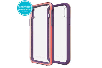 Lifeproof Slam Coral/Lilac/Clear Tough Case/Cover/Rugged Drop Proof for iPhone X