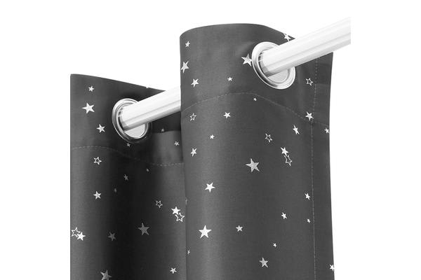 Art Queen 2 Star Blockout 180x230cm (Black)out Curtains (Grey)