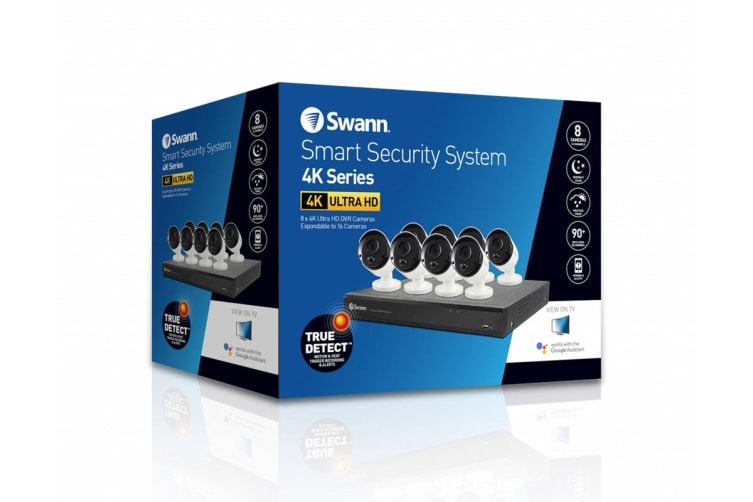 Swann 16 Channel 4K Ultra HD 2TB DVR with 8 x PRO-4KMSB True Detect Thermal  Sensing Bullet Cameras (SWDVK-1655808)