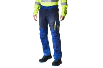 Helly Hansen Mens Aker Work Pants (Egyptian Blue/Evening Blue)