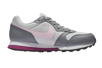 Nike MD Girls' Runner 2 (GS US) Shoe (Pure Platinum/Pink Foam, Size 5.5Y US)
