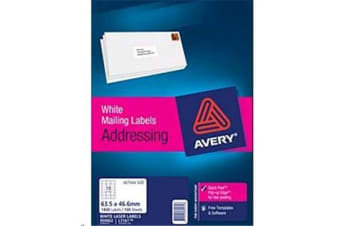 AVERY LASER LABEL L7161-100 100 SHEET