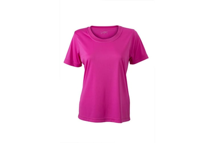 James and Nicholson Womens/Ladies Active Tee (Pink) (XL)