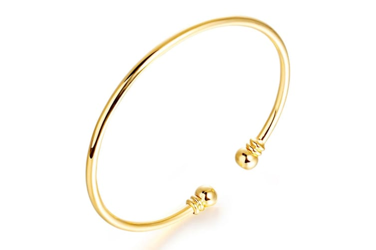 18ct Yellow Gold Golf Bangle Open|Gold