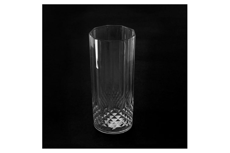 12 Acrylic Clear Plastic Tumbler Water Drinking Glasses Drink Tall Tumblers Set