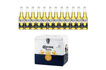 NEW Corona Extra Beer 12 x 355ml Bottles + 15L Corona Cooler BUNDLE
