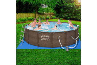 Bestway Above Ground Swimming Pool Frame  Metal Pool 4.27 x 1.07M