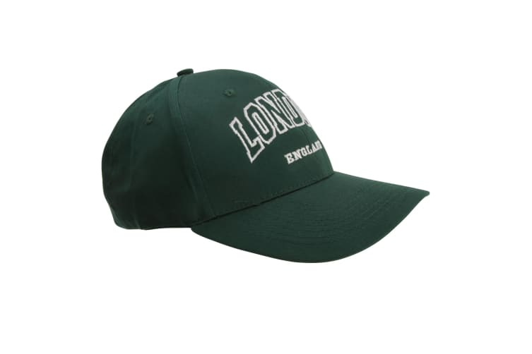 Unisex Cotton Rich London England Baseball Cap (Forest Green) (One Size)