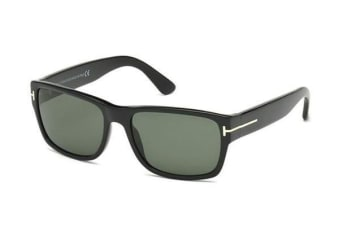 Tom Ford FT0445 - Shiny Black (Green lens) Mens Sunglasses