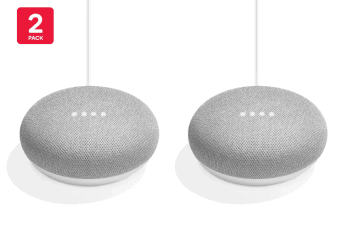 Google Home Mini (Chalk) - Australian Model - 2 Pack
