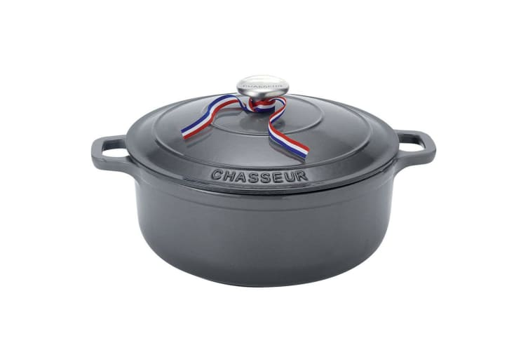 Chasseur 26cm 5.2L Round French Oven Induction Safe Casserole Cookware Caviar
