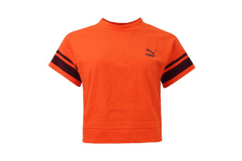 Puma Women's Fenty Tipping Tee (Flame, Size M)