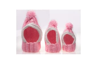 Michi Knitted Pom Pom Hat For Dogs (Pink)