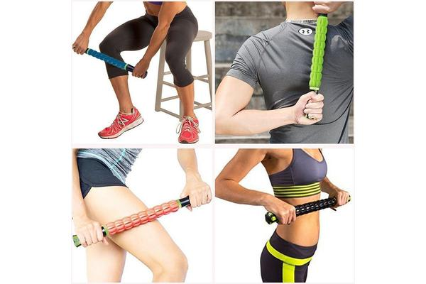 Muscle Roller Stick Roll Massage Tool For Sore Tight Muscles Cramps Yellow