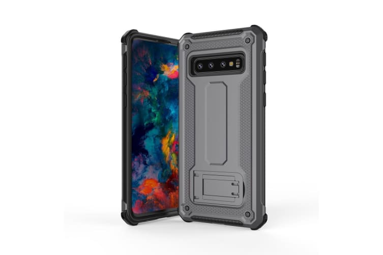 For Samsung Galaxy S10 PLUS Case Ultra-thin PC+TPU Armour Back Cover Grey