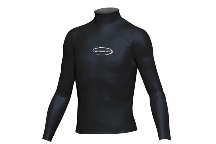 Mirage Junior Lycra Rash Long Sleeve Shirt 6 Black