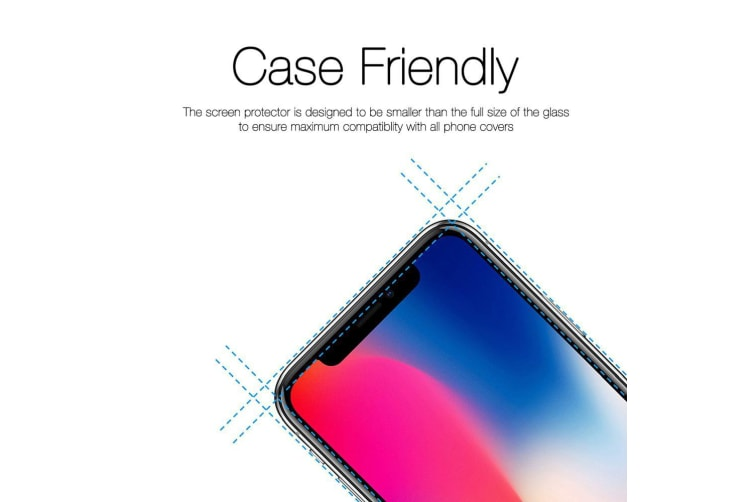 Transparent [2-Pack] For iPhone 11 Pro XS X 9H Tempered Glass Screen Protector