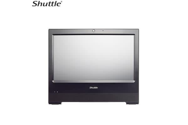 Shuttle X50V5 XPC AIO Fanless Barebone - 15.6' Touch, IP54, Celeron 3855U, DDR3L SODIMM, 2.5' HDD, VGA/HDMI, RS232/LPT(optional), 1 Giga LAN, WiFi, CA