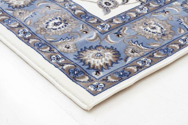 Classic Runner White with Blue Border 300x80cm