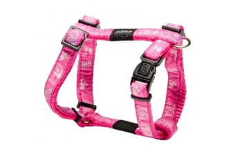 Rogz Fancy H Harness Pink Paws - L
