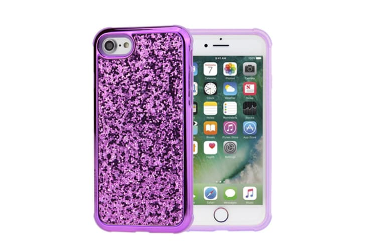 Luxury Bling Sparkly Rhinestone Crystal Hard PC & Soft TPU Inner Shockproof Chrome Bumper Protective Case for iPhone  iphone6plus